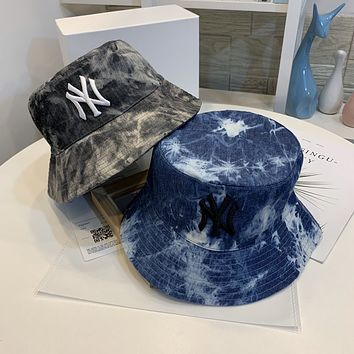 """New York Yankees"" Unisex Fashion Painted Embroidery Fisherman Hat Bucket Hat Couple Casual Sun Cap"