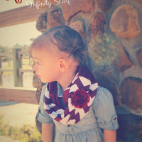 MAROON OUT Chevron Infinity Two-Tone Scarf Infant/Toddler scarf child scarf- Aggie