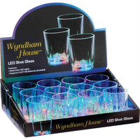 Wyndam House 12pc 2oz Led Shot Glasses In Countertop Display