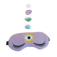 Weighted Amethyst Healing Crystal Infused Sleep Mask