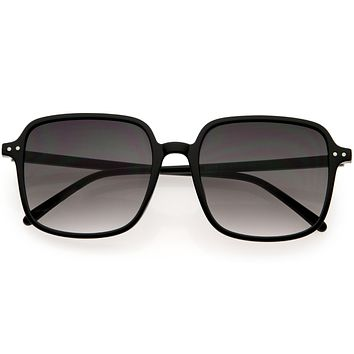 Chic Everyday Square Mid Temple Oversized Sunglasses D257