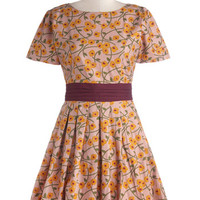 Short Sleeves A-line Meetings and Salutations Dress