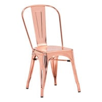 Elio Dining Chair Rose Gold Steel