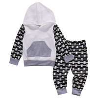 2016 kids boys Autumn style infant clothes baby clothing sets  Baby Boy Hoodies Sweatshirt+Pants Trousers Outfits Clothes Set