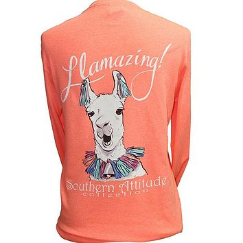 Southern Attitude Preppy Amazing Llama Long Sleeve T-Shirt