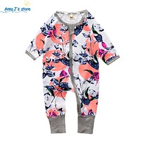 Children With Long Sleeve Pajamas born Infant Cotton Overalls born Clothes toddler