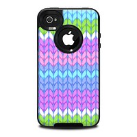 The Bright-Colored Knit Pattern Skin for the iPhone 4-4s OtterBox Commuter Case