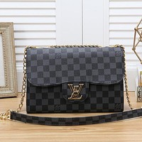 Louis Vuitton LV Women Fashion Leather Chain Crossbody Satchel Shoulder Bag