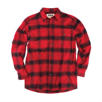 Stormy Kromer Red/Black Plaid Flannel Shirt
