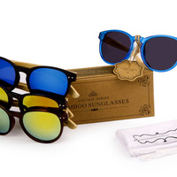 Get 3 For Special! Women's Fashion Bamboo Wood Sunglasses (3 pcs.)