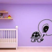 Wall Sticker For Kids Baby Turtle Cool Decor for Nursery Room Unique Gift z1403