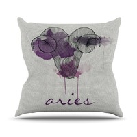 "Belinda Gillies ""Aries"" Throw Pillow"