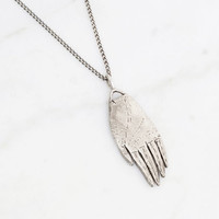 Hand amulet necklace - silver
