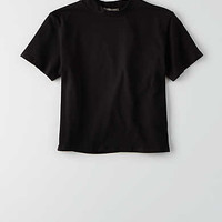 Don't Ask Why Mock-Neck T-Shirt, Black