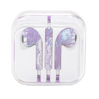 Purple Marble Earbuds