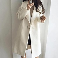 Blend Jackets Women Outerwear Female Turn Down Collar Long Coats Ladies Jackets and Coats Plus Size