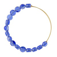 Sapphire Luxe Bead Bangle