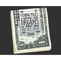 Fishing Personalized Money Clip