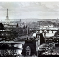 River Seine and the City of Paris, c.1991 Print by Peter Turnley at Art.com