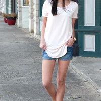 Emma's Basic Short Sleeve Top {Blush}