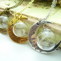 love you to the moon pendant   Spoiled Rotton