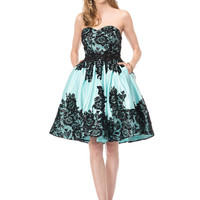 COLORS 1524 Lace Applique Cocktail Dress Mother of the Bride Homecoming