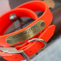 Bright Orange Hunting Dog Collar