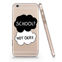 Amazon.com: School Not Okay Slim Iphone 6 Plus Case, Clear Iphone Hard Cover Case For Apple Iphone 6 Plus-Emerishop (AH1073): Cell Phones & Accessories
