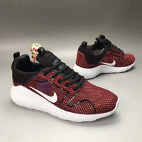 """""""NIKE"""" Fashion Casual Knit Fly Line Olympic Unisex Sneakers Couple Running Shoes"""