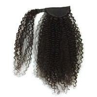 Wrap Around 100% Human Hair Ponytail in Kinky Curly 12""