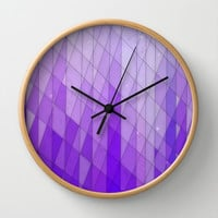 Ode to Purple Wall Clock by DuckyB (Brandi)