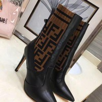 Fendi women Casual Shoes Boots fashionable casual leather