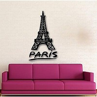 Wall Stickers Vinyl Decal Paris France Eiffel Tower Romantic Travel Unique Gift (ig670)