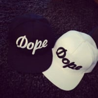 Hip-hop Printing Embroidery Letters Baseball Cap Flat Brimmed Hat