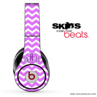 Custom Monogram Purple Chevron Pattern Skin for the Beats by Dre