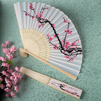 Fashion Folding Fan Delicate Japanese Cherry Blossom Design Silk Costume Party 2015 = 1946244868