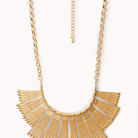 FOREVER 21 Art Deco Bib Necklace Gold One