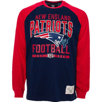 New England Patriots Sweep Felt Applique Long Sleeve Jersey T-Shirt