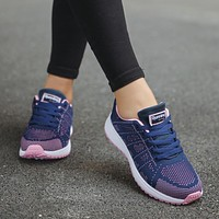 Womens Sport shoes Air cushion Running Outdoor Summer Sneakers
