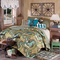 Cowboy Paisley Quilted Bedding Collection