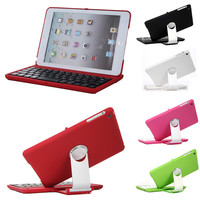 Bluetooth Keyboard Tablet Bluetooth Wireless Aluminum 360 Swivel Rotating Keyboard Case for iPad Mini 1 2 3