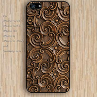 iPhone 5s 6 case Wood carving wooden case colorful phone case iphone case,ipod case,samsung galaxy case available plastic rubber case waterproof B369