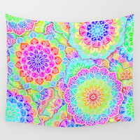 Psychedelic Summer Wall Tapestry by Micklyn