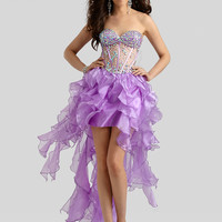 Sweetheart Beaded Top Formal Prom Dress Clarisse 2312