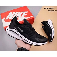 NIKE Air Zoom 270 Vapormax Flyknit Fashion Men Breathable Running Sport Shoes Sneakers Black