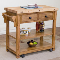 Sinclair Kitchen Island with Butcher Block Top & Reviews | Joss & Main