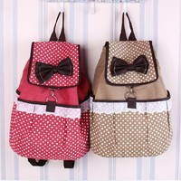 Sweet Canvas Lace Backpack