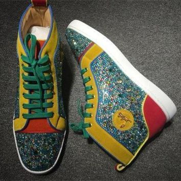DCCK2 Cl Christian Louboutin Rhinestone Style #1943 Sneakers Fashion Shoes