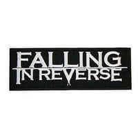 """FALLING IN REVERSE Iron On Embroidered Patch 4""""/10cm"""