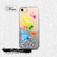 World Map Paint Splatter Rainbow Earth Cute Liquid Glitter Sparkle Case iPhone 6 and 6s iPhone 6 Plus and 6s Plus iPhone 7 and iPhone 7 Plus